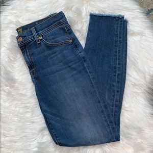 7 For All Mankind Raw Hem The Ankle Skinny Jean